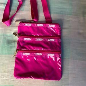 Pink glossy Lesportsac